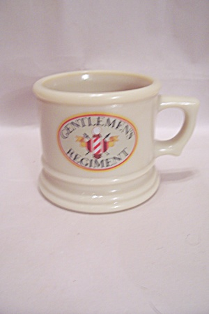 Avon Beige Glass Gentlemen's Regiment Footed Mug