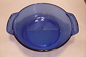 "Fire King/anchor Hocking Cobalt Blue 9"" Casserole"