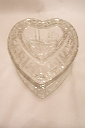 Crystal Glass Heart Shaped Lidded Candy Dish