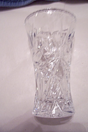 Small Crystal Pattern Glass Vase
