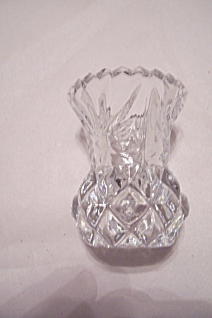 Crystal Pattern Glass Sugar Bowl