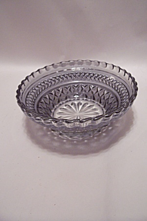 Smoky Topaz Pattern Glass Dessert Bowl