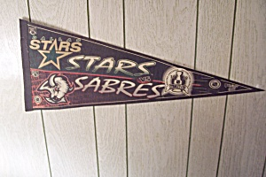 1999 Stanley Cup Playoffs Pennant Stars vs. Sabres (Image1)