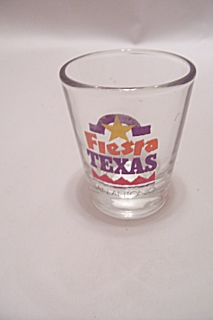 Fiesta Texas Souvenir Advertising Shot Glass