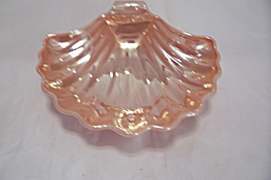 Fire King.ah Peach Luster Shell Candy Dish