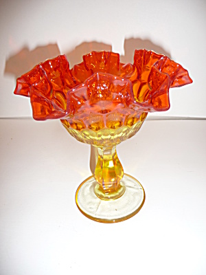 Large Cobalt Blue Pattern Glass 10-sidedtumbler
