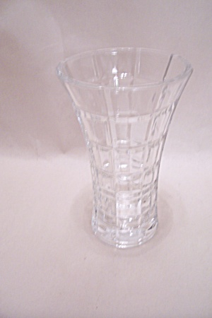 Crystal Pattern Glass Vase