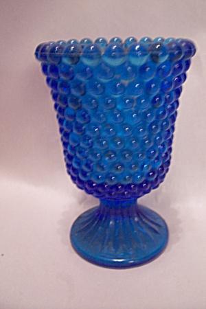 Cobalt Blue Hobnail Glass Toothpick Holder (Image1)