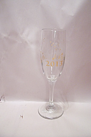 2013 New Year's Crystal Champagne Glass
