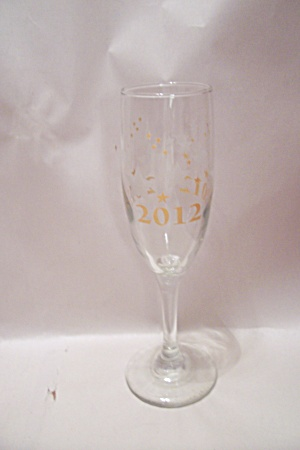 2012 New Year's Crystal Champagne Glass