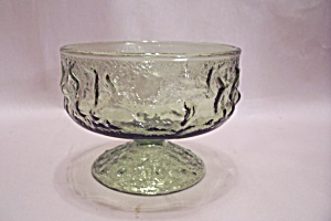 Green Pattern Glass Sherbet