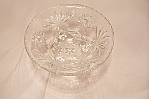 Fireking/anchor Hocking Eapc Crystal Glass 3-toed Bowl