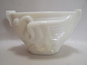 Art Deco Milk Glass Swan Bowl/Cache Pot (Image1)