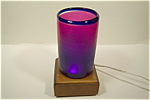 Handblown Purple And Blue Art Glass Tumbler (Image1)