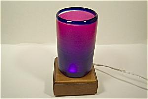 Handblown Purple And Blue Art Glass Tumbler (Image1)