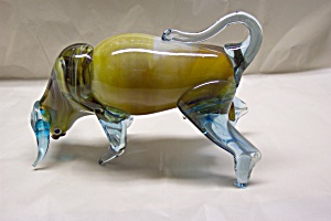 Handblown Art Glass Spanish Fighting Bull
