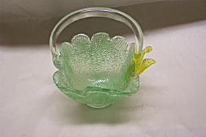 Handblown Spatter Art Glass Basket (Image1)