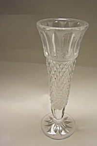 Vintage Cut Crystal Glass Bud Vase