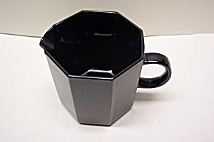 Black Glass 8-Sided Creamer (Image1)
