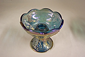 Purple Carnival Glass Candle Holder (Image1)