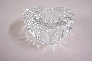 Crystal Glass Heart Shaped Candle Holder