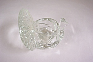 Avon Crystal Glass Turkey Candle Holder (Image1)