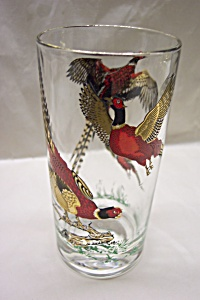 Gilt Trimmed Rigneck Pheasant 10 Ounce Glass