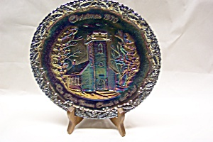 Fenton Christmas 1970 Carnival Glass Plate