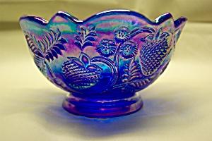 FENTON Deep Purple Carnival Art Glass Bowl (Image1)
