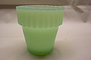 Fenton Light Green Opalescent Glass Toothpick Holder