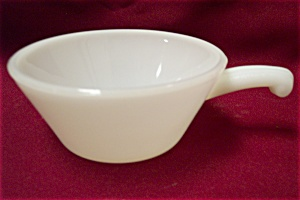 Fireking White/milk Glass Casserole With One Handle