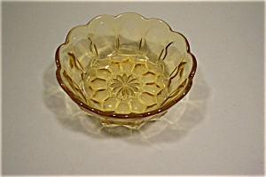 Amber Oven Glass Fire King Bowl (Image1)