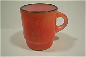 Reddish-Orange Mug With Black Rim (Image1)
