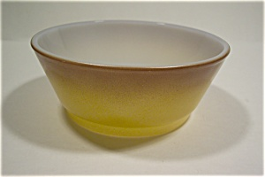 5 Inch Brownish Avacado Fire King Cereal/Salad Bowl (Image1)