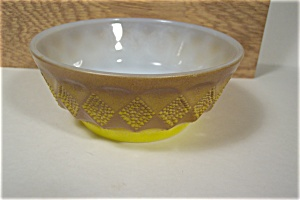 FireKing Brown & Yellow Kimberly Cereal Bowl (Image1)