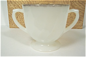 Fire King /Anchor Hocking Swirl Ivory Sugar Bowl (Image1)