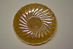FireKing Peach Lustre Shell Pattern Saucer (Image1)