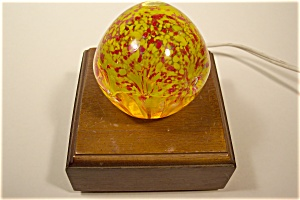 Abstract Red And Yellow Design Paperweight