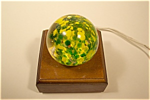 Abstract Green And Yellow Design Paperweight (Image1)
