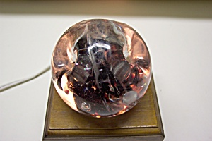 1950s Abstract Amethyst Floral Paperweight (Image1)