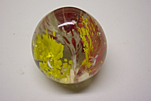 Multi-color Abstract Floral Design Paperweight