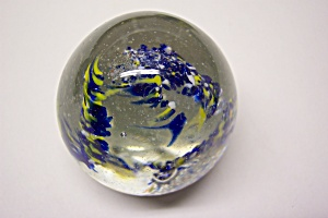 Abstract Multi-Colored Cased Glass Paperweight (Image1)