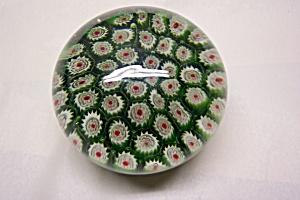 Silvestri Green Milifiori Paperweight (Image1)