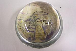 Vintage White's City, Nm Paperweight