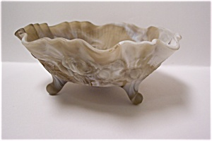 Imperial Caramel Slag Glass 3-Toed Bowl (Image1)