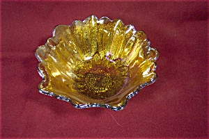 "Imperial Marigold  Carnival Glass 7"" Bowl (Image1)"