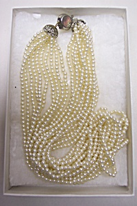 Vintage Ten Strand Faux Seed Pearl Necklace (Image1)