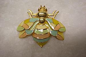 Large Vintage Enameled Fly Brooch (Image1)