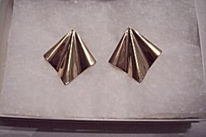 Gold Plated Fan Shaped Earrings (Image1)