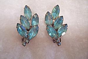 Aquamarine Rhinestone Earrings (Image1)